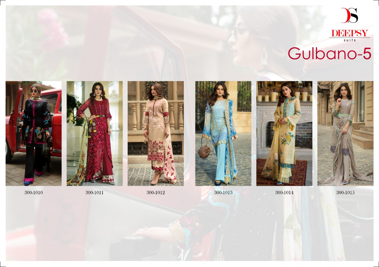 54b2fbfc26 Designer Gulbano Vol 5 Suits By DEEPSY SUITS 300-1010 TO 300-1015 ...