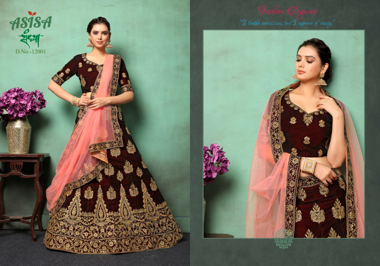 78516dbb56 Asisa Sandhya 12001-12004 Series By Asisa Sandhya Lehenga For Single ...