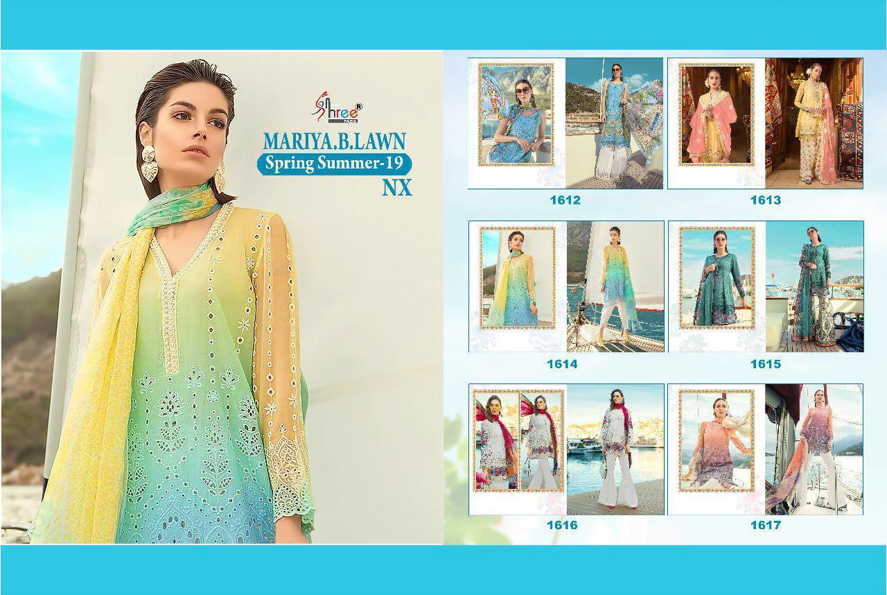 Shree Fabs Maria B Lawn Spring Summer 1612-1617