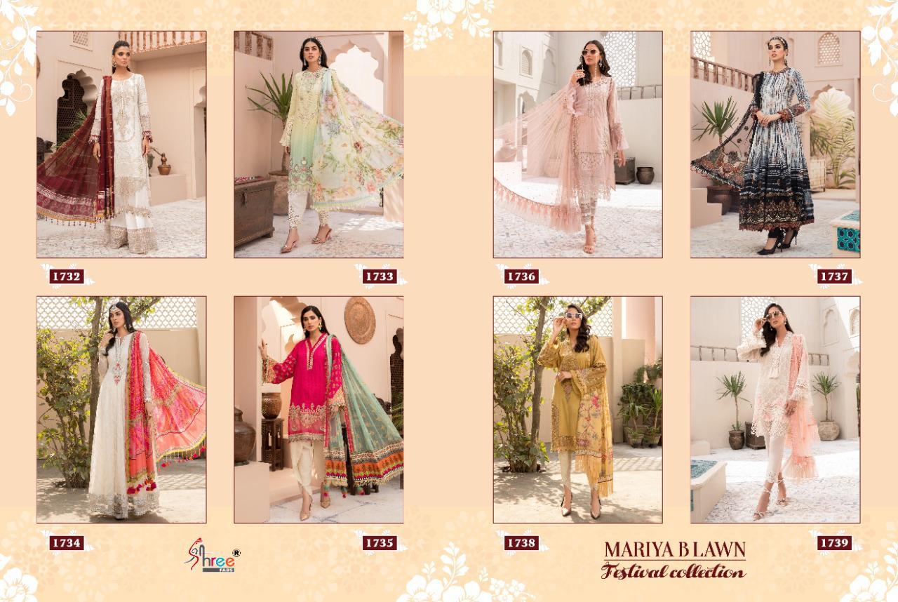Shree Fabs Maria B Lawn Festival Collection 1732-1739