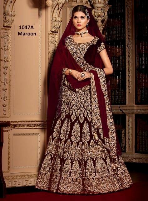 1047A-B wedding Bridal Lehenga Choli