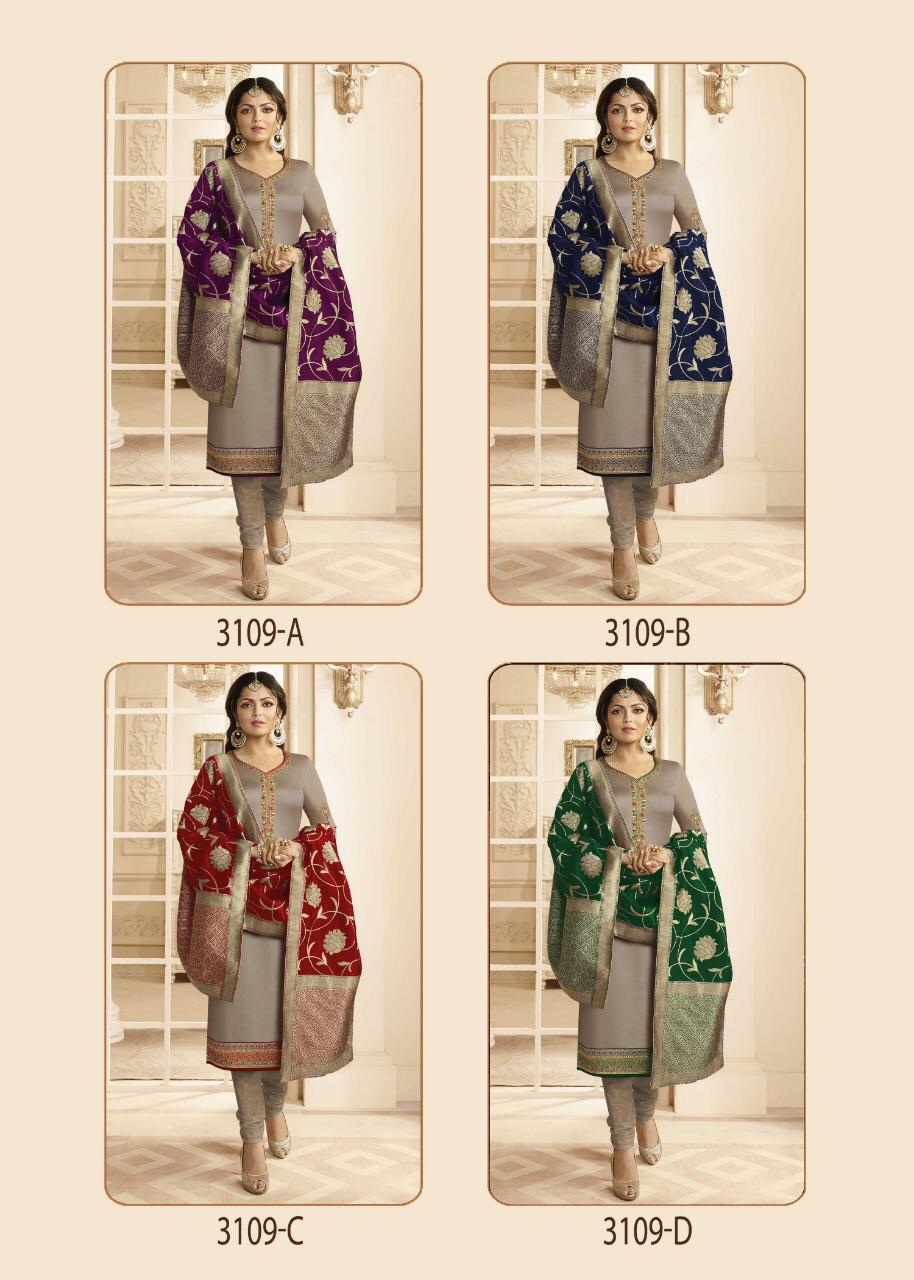 LT Fabrics Nitya 3109 COLORS