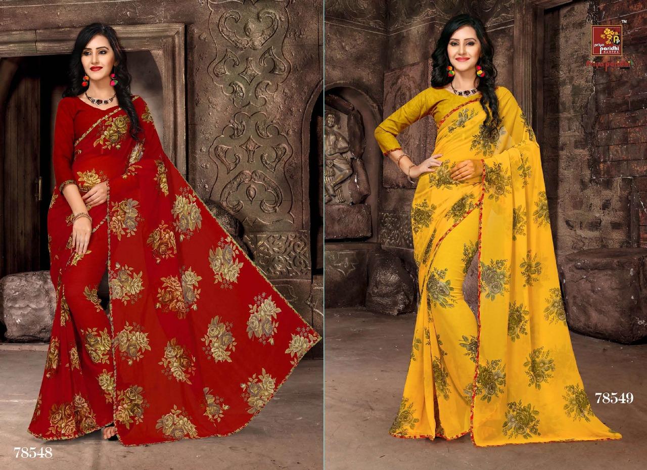 Priya Paridhi Milky 78548 78549