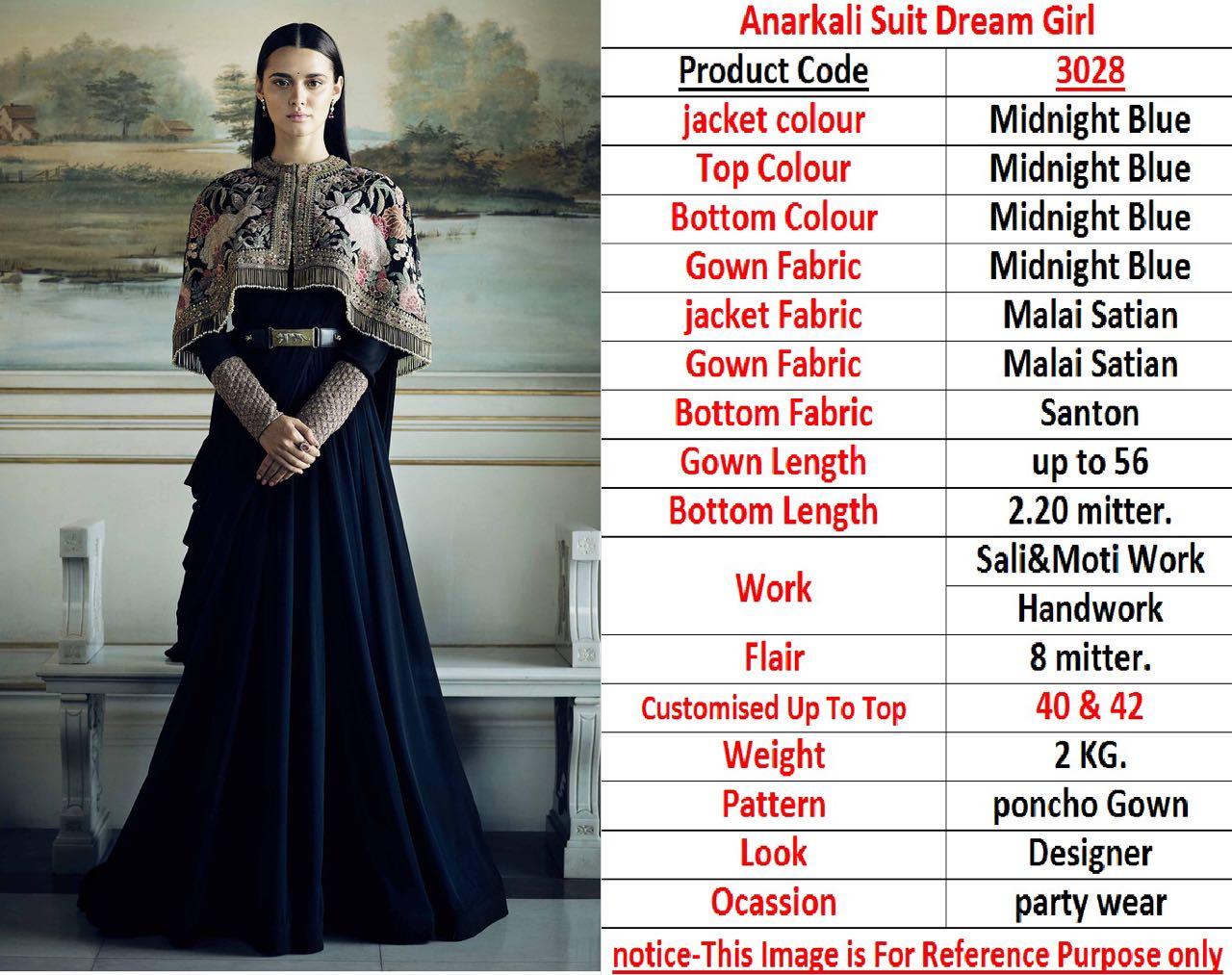 Anarkali Suit Dream Girl 3028