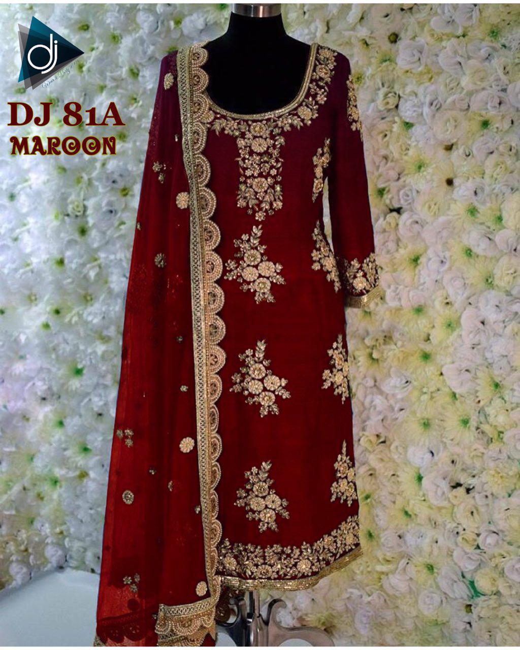 Deep Jyoti Creation DJ 81A Maroon