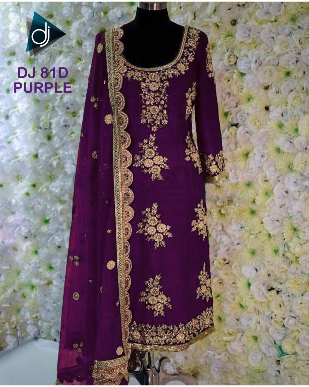 Deep Jyoti Creation DJ 81D Purple