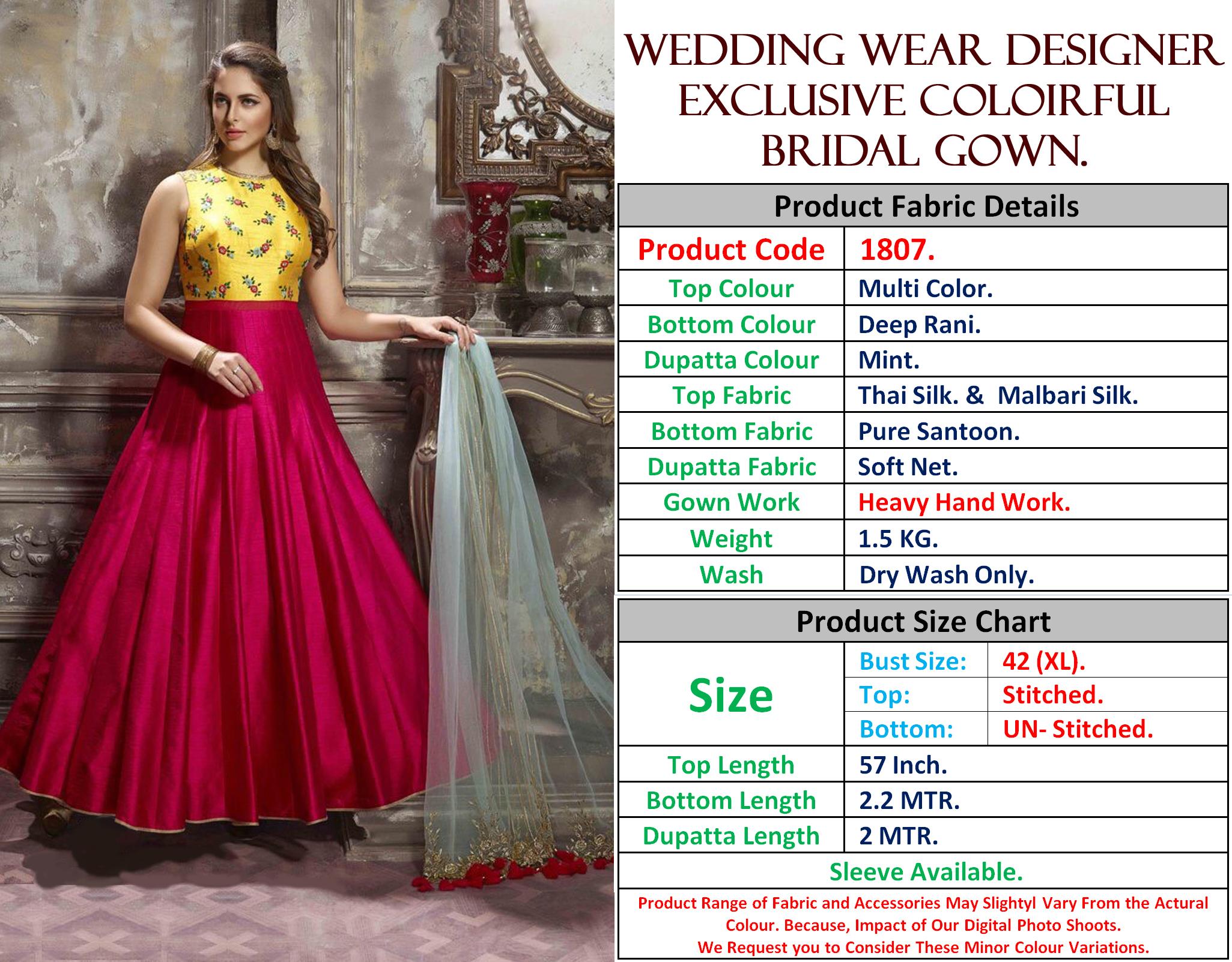 Designer Ethnic Wear Gown 1807