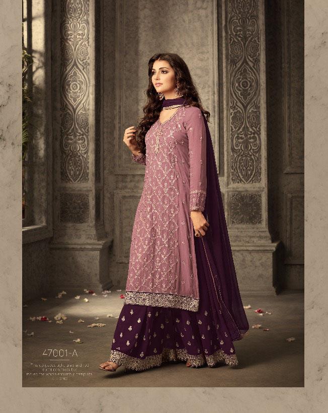 Mohini Fashion Glamour Sarara Collection Hit Design Colors 47001A