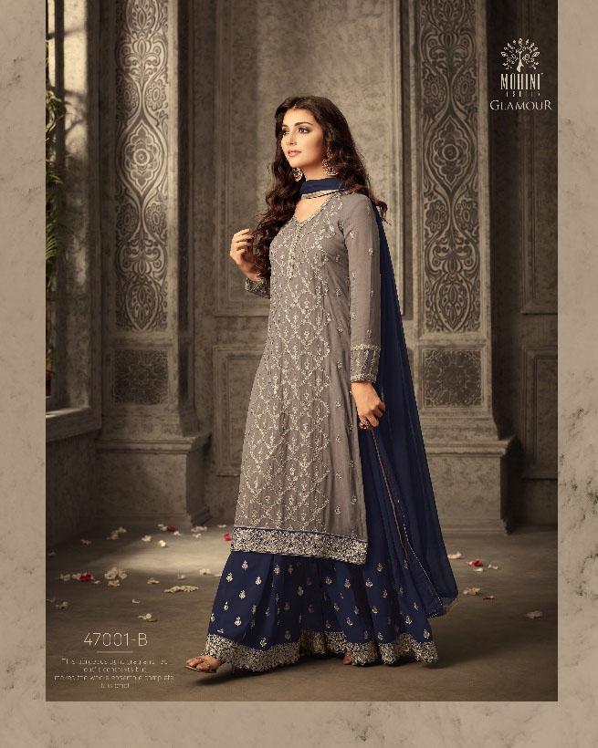 Mohini Fashion Glamour Sarara Collection Hit Design Colors 47001B
