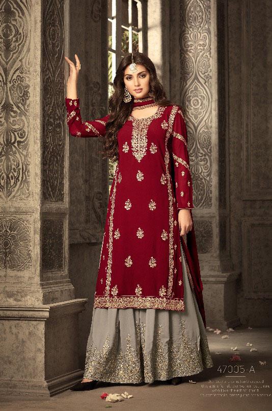 Mohini Fashion Glamour Sarara Collection Hit Design Colors 47005A