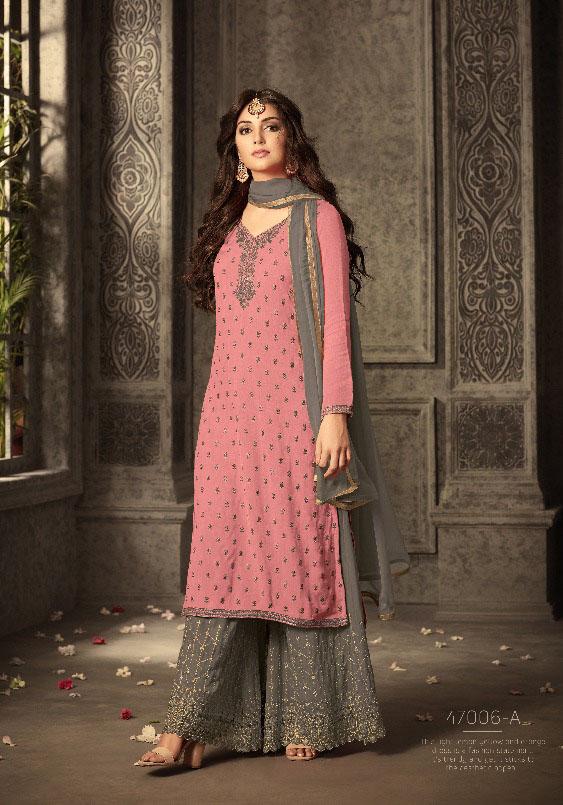 Mohini Fashion Glamour Sarara Collection Hit Design Colors 47006A