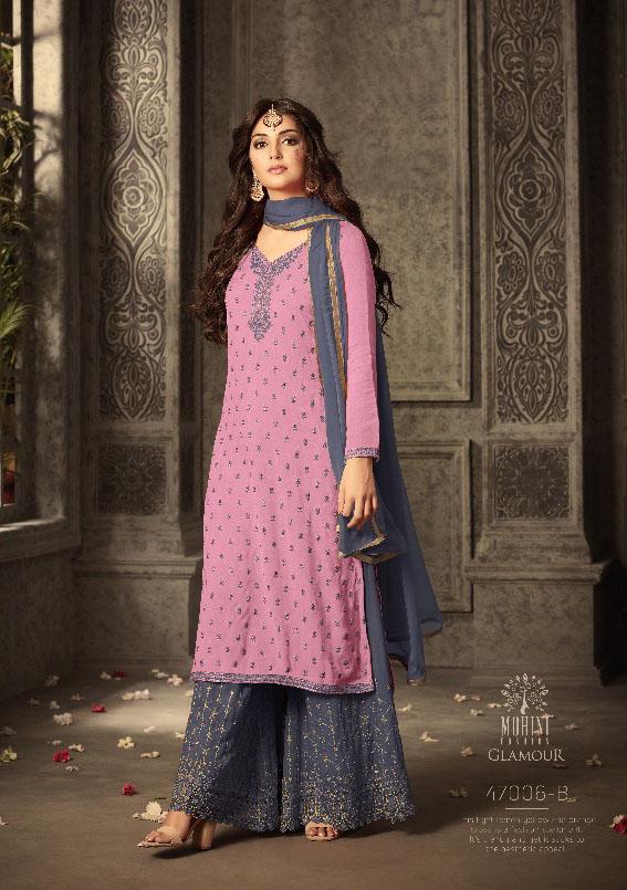 Mohini Fashion Glamour Sarara Collection Hit Design Colors 47006B