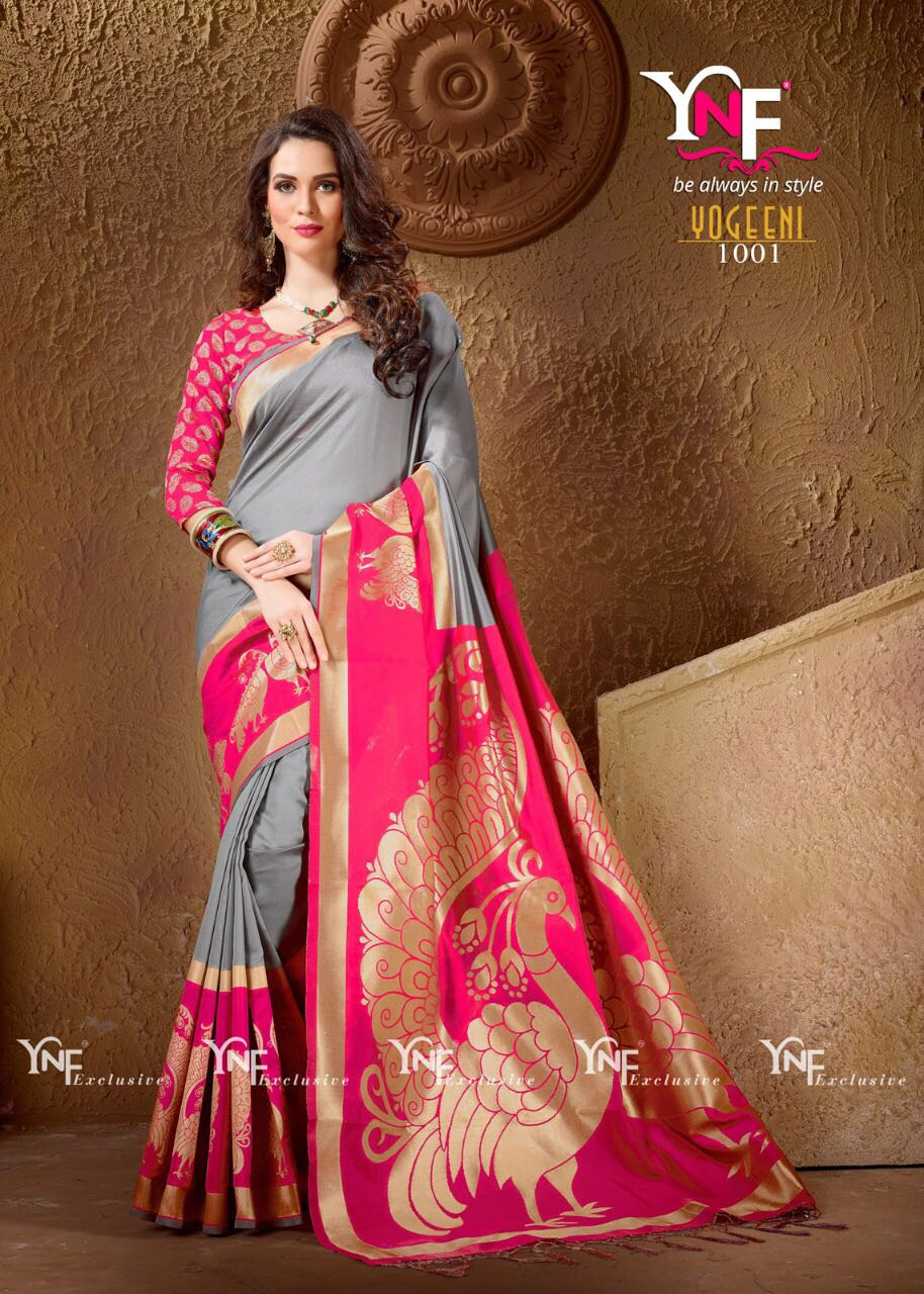 Yadu Nandan Fashion Silk Saree Hit Collection 1001