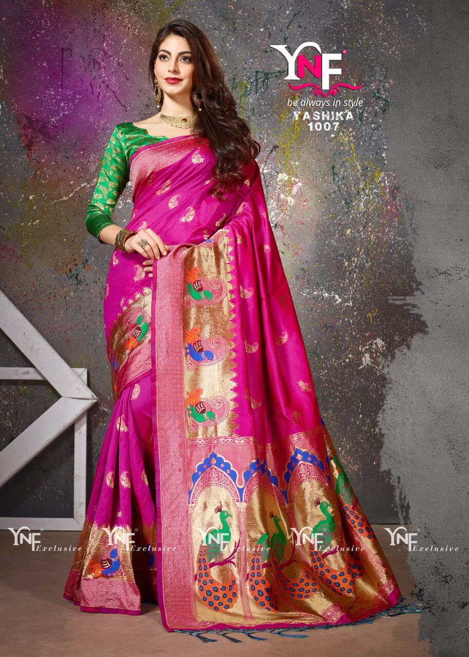 Yadu Nandan Fashion Silk Saree Hit Collection 1007