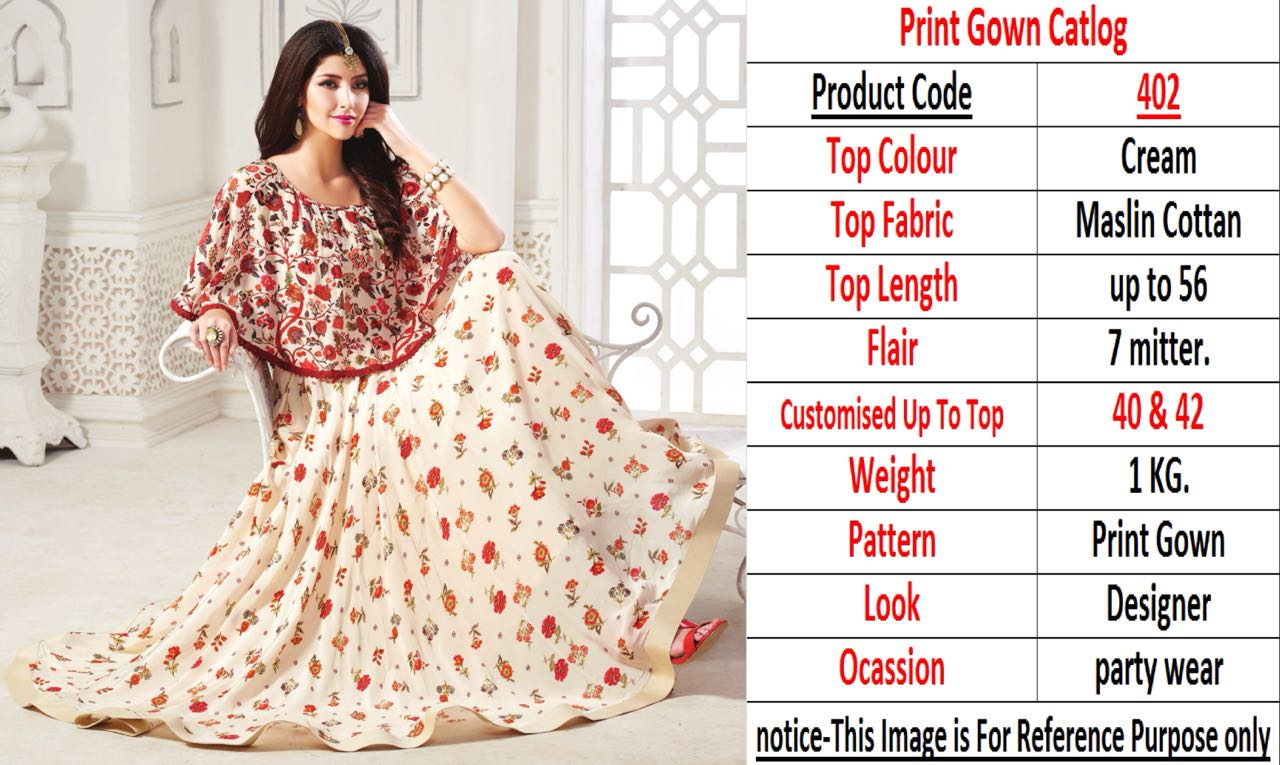 Designer Print Gown Collection 402