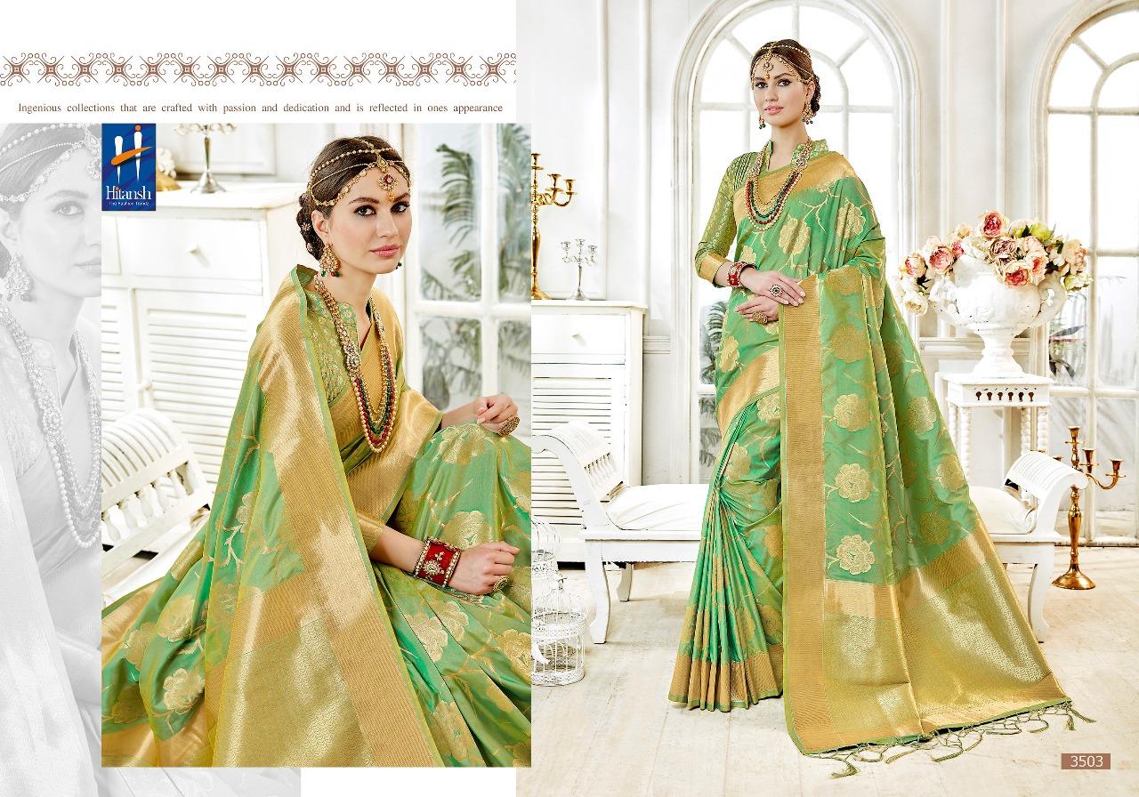 Hitansh Fashion Cora Silk 3503