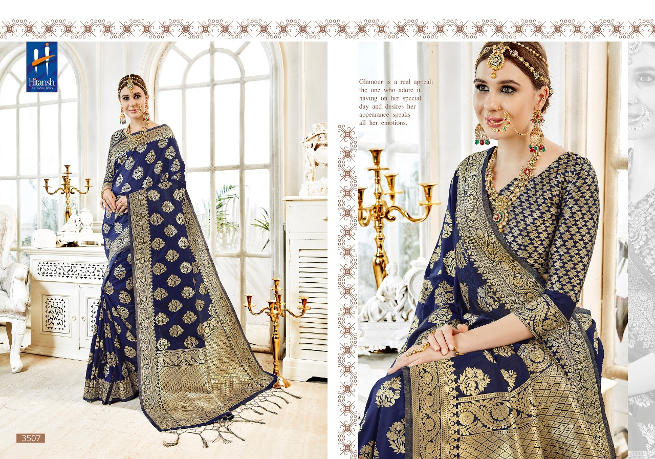 Hitansh Fashion Cora Silk 3507