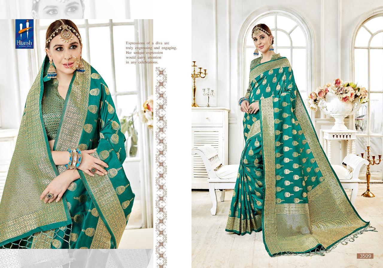 Hitansh Fashion Cora Silk 3509