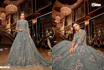 Swagat Violet Snow White 6302 Colors Gown