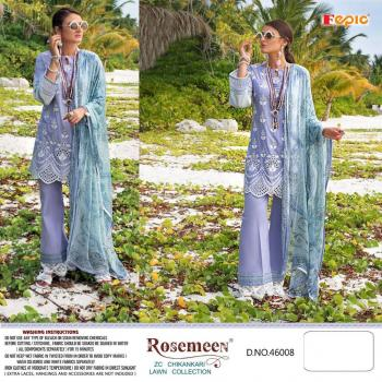 Fepic Rosemeen ZC Chikankaari Lawn Collection 46008-46011 Series