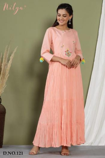 Lt Fabrics Nitya Gown 121 & 122 Design
