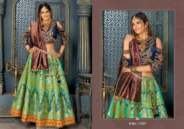 Peafowl Vol-42 Banarasi Silk Lehanga 11231-11235 Series