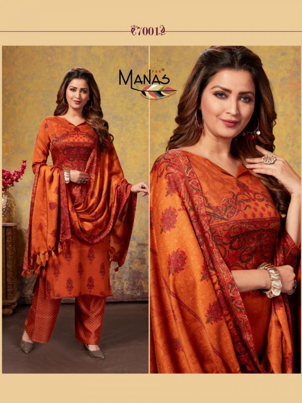 Manas Pashmina Plazo 7001-7006 Series