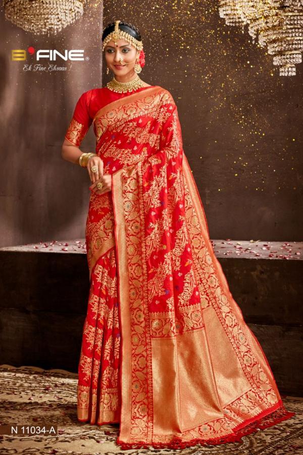 B Fine Saree Art Of Banaras 11034-11036 Series