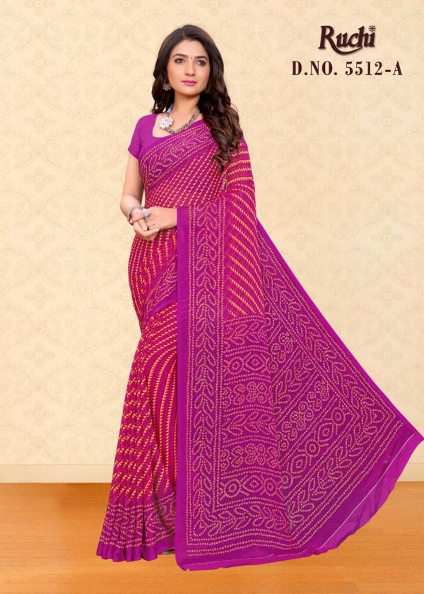 Ruchi Kesariya Chiffon 5512 Colors