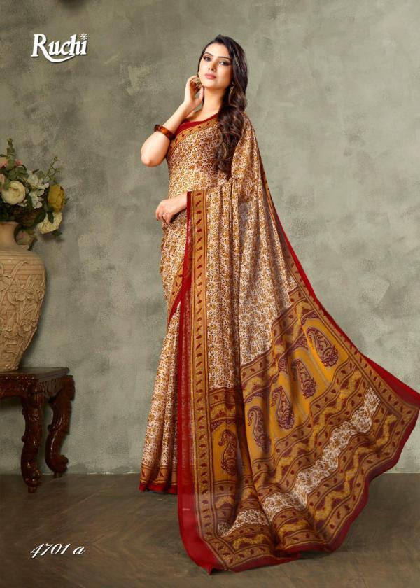 Ruchi Saree Super Kesar Chiffon Vol-47 4701-4705 Series