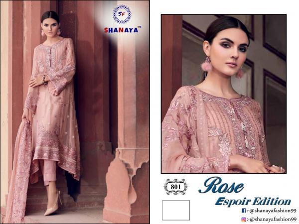 Shanaya Fashion Rose Espoir Edition 801 Colors