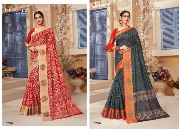Lifestyle Saree Radhika Cotton 67101-67108 Series