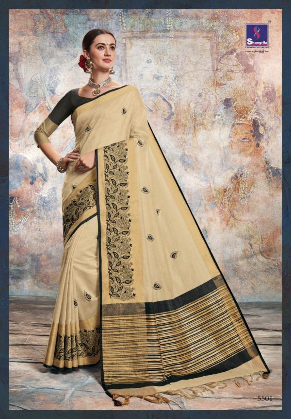 Shangrila Saree Chanderi Silk 5501-5508 Series