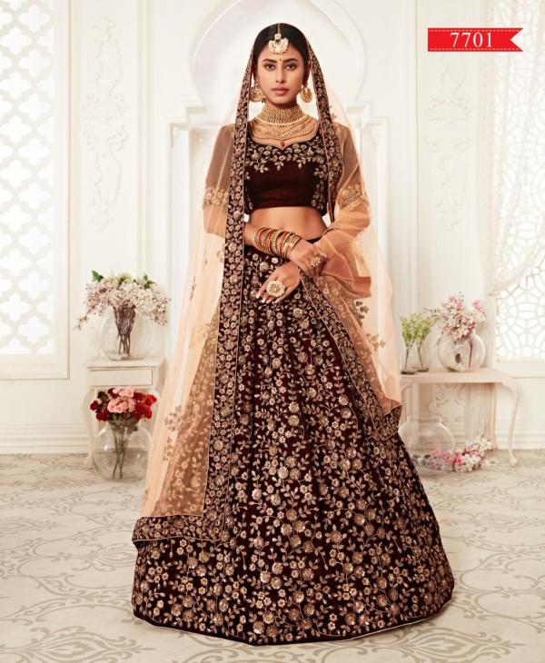 Zeel Heavy Bridal Lehenga Choli 7701-7702 Series