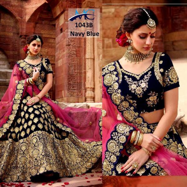 MC 1043 Velvet Designer Bridal Wedding Lehenga Choli