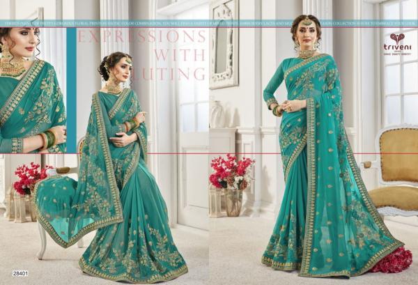 Triveni Saree Padmaja 28401-28408 Series