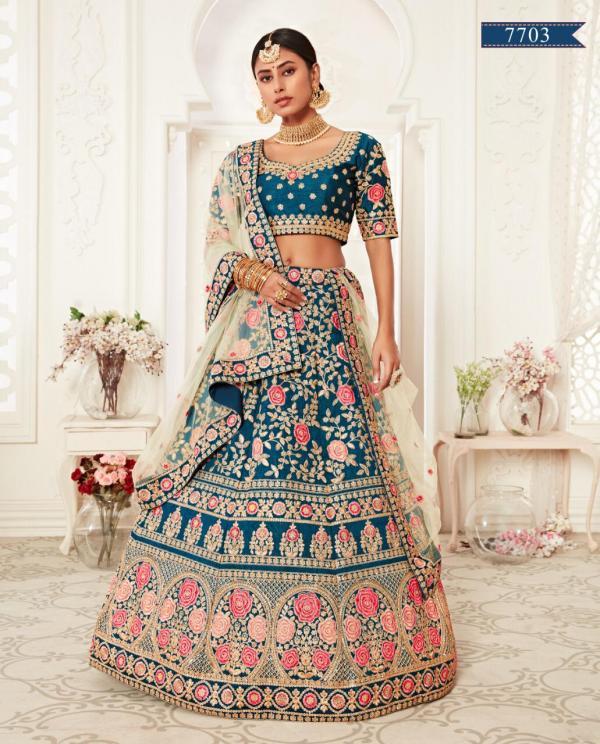 Zeel Wedding Designer Lehenga Choli 7703 Design