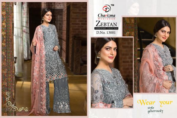 Charizma Designer Zebtan Embroidery Collection 13001-13006 Series