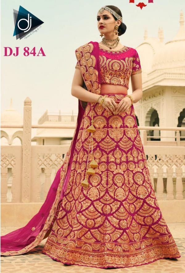 DJ 84 Colors Silk Heavy Wedding Wear Bridal Lehenga