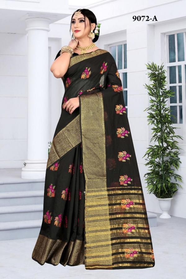 NP Saree 9072 Colors Cotton Silk Sarees