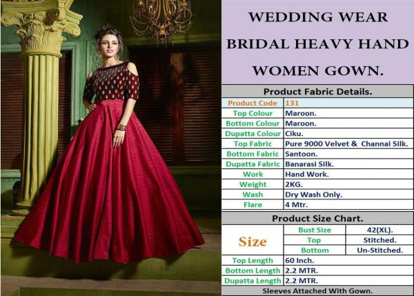 Wedding Wear Bridal gown Collection 131-133 Series