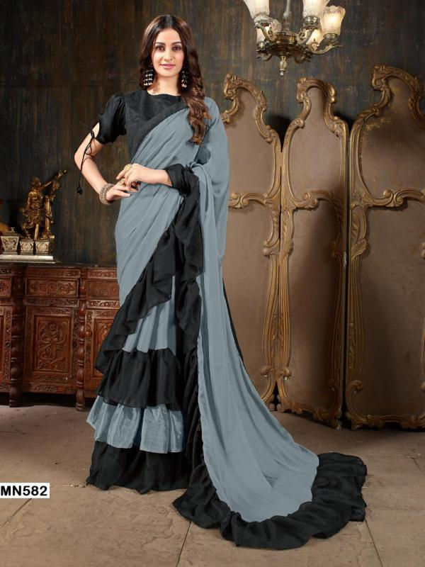 Roohi Ruffle Saree Vol-1 FG 582-587 Series