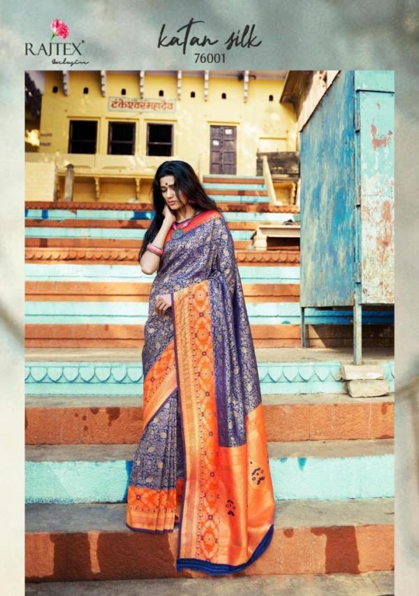 Rajtex Saree Katan Silk 76001-76010 Series
