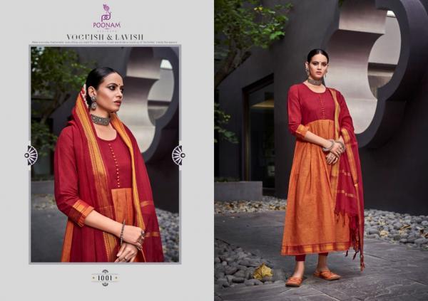 Poonam Designer Handloom Kali 1001-1009 Series