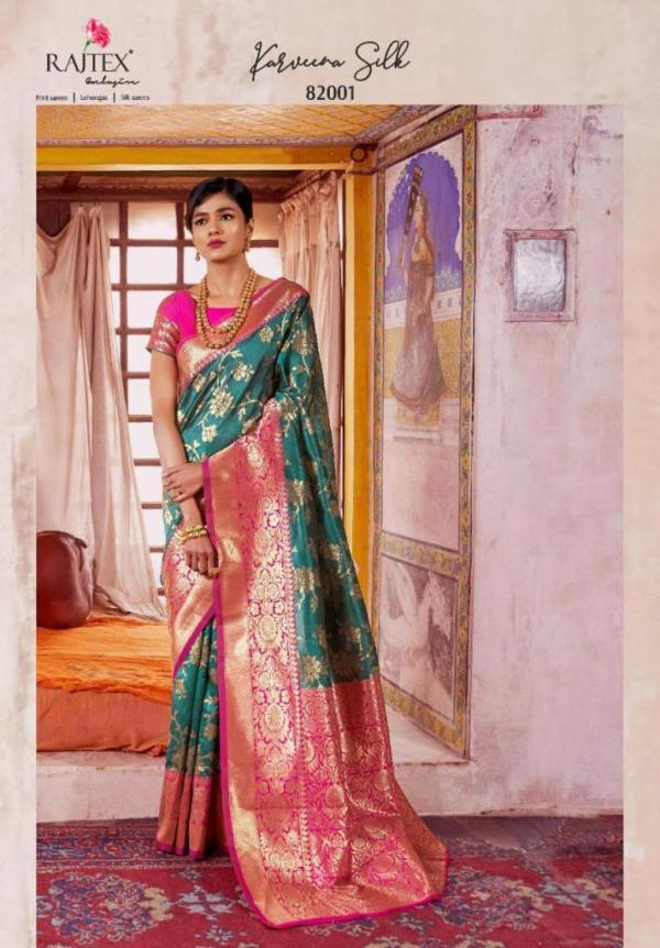 Rajtex Saree Karveena Silk 82001-82012 Series