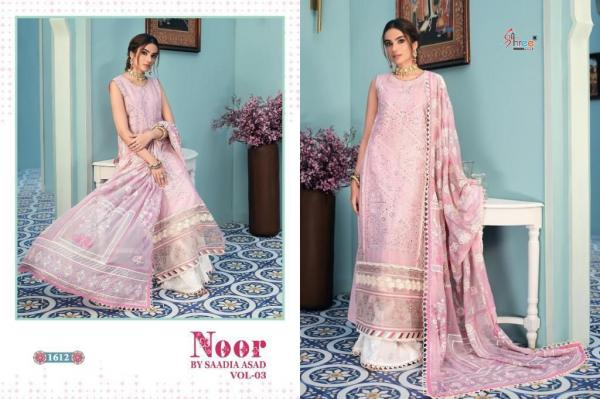Shree Fabs Noor By Saadia Asad Vol-3 1612-1616 Series