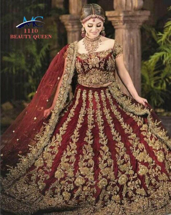 MC 1110 Beauty Queen Maroon Bridal Lehenga