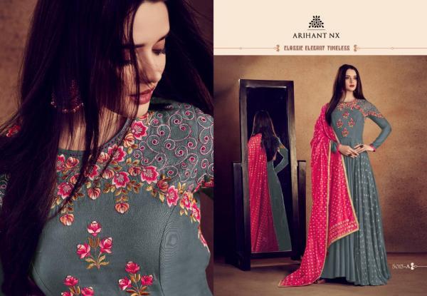 Arihant Designer Rizwana Vol2 Platinum 5015 Colors