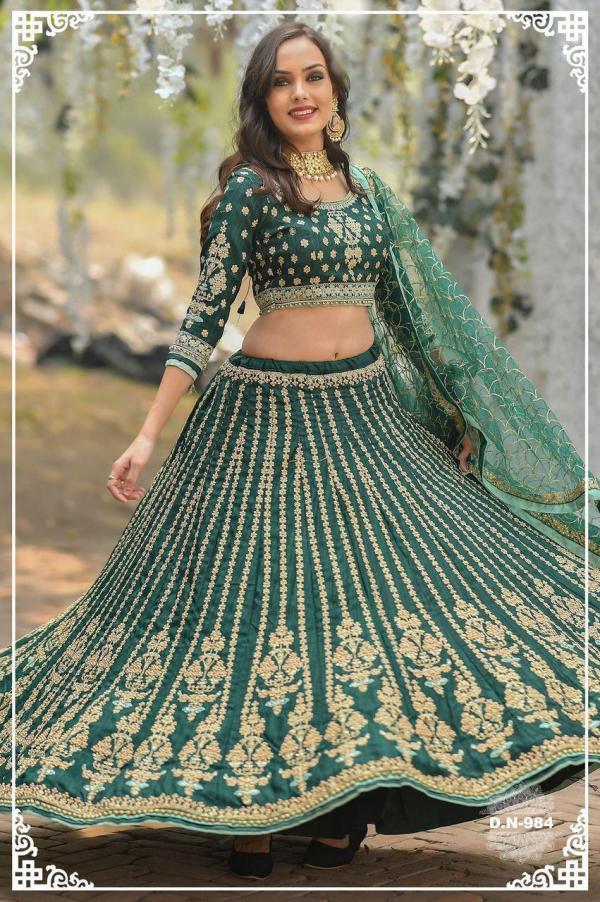 AF Peafowl Bridal Lehangas Choli Design-984