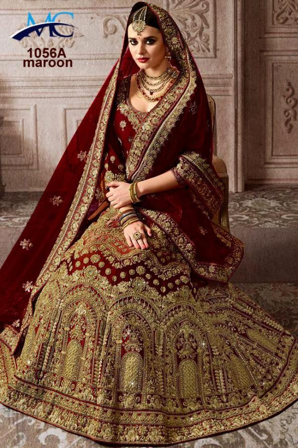 MC 1056 Silk Wedding Lehenga Choli